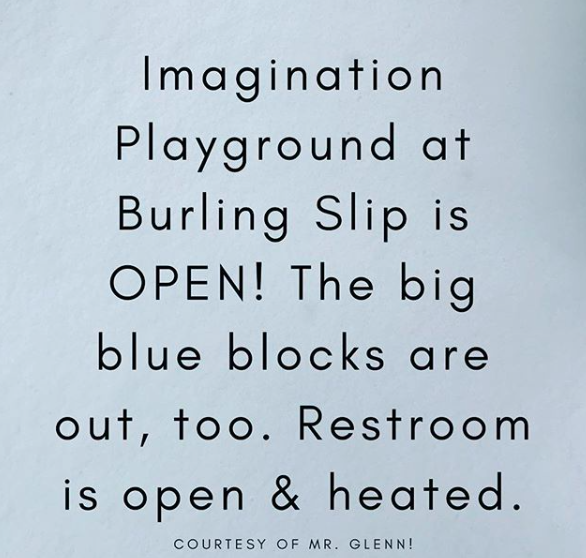 Imagination Playground - OPEN for the SNOW Day!