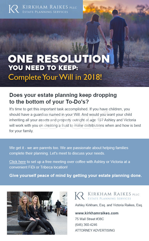 Complete Your Will in 2018