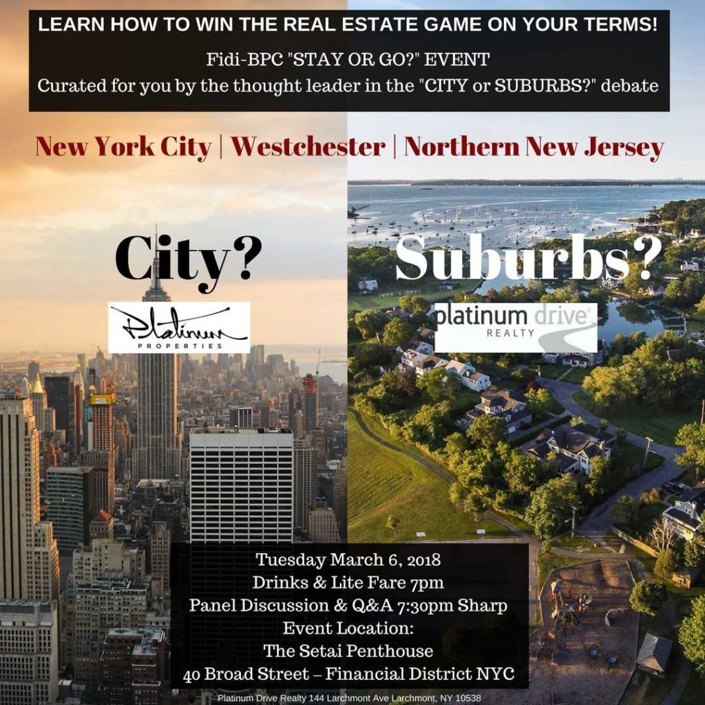 """City or Suburbs"" Join Us To Win The Real Estate Game On Your Terms! Learn More + RSVP"