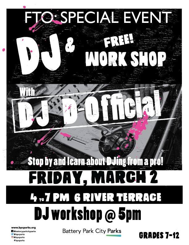 For Teens Only Series: Dj Workshop