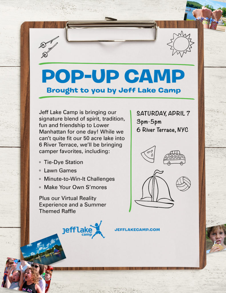 Pop-Up Camp in Battery Park City - April 7th