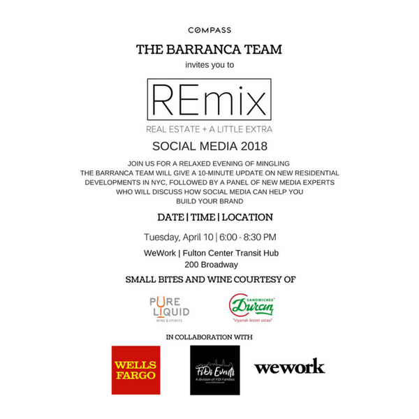 Remix with Compass and the Barranca Team: A Panel Discussion & Networking Mixer at WeWork