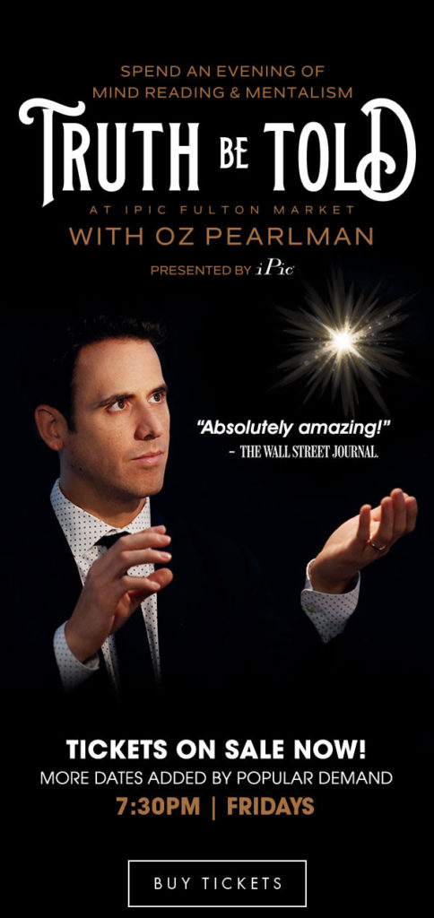 Oz Pearlman: An Evening of Mind Reading and Mentalism at iPic