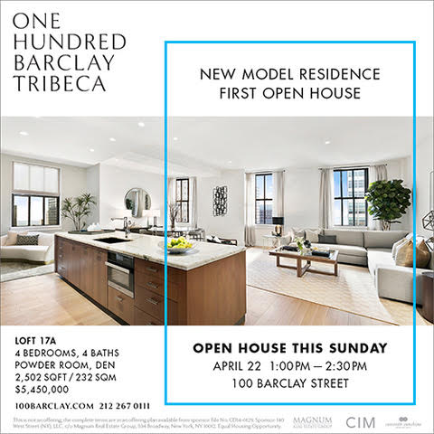 New Model Residence Open House at One Hundred Barclay This Weekend