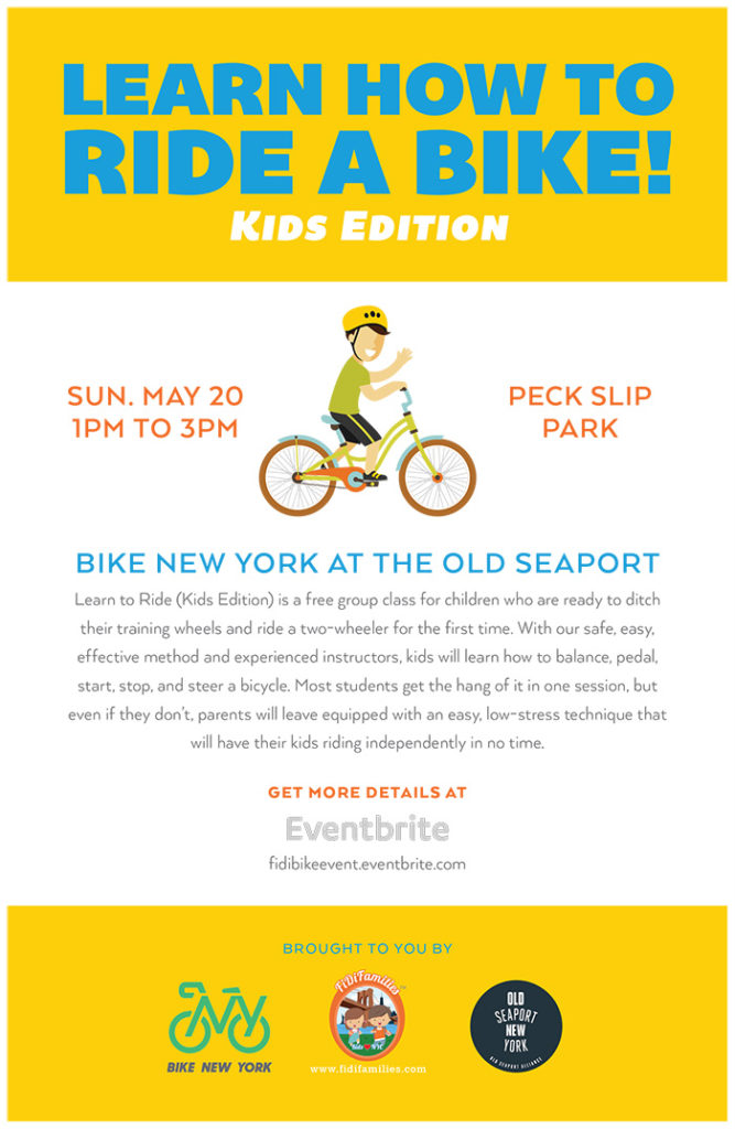 Learn to Bike Workshop for Kids 2018