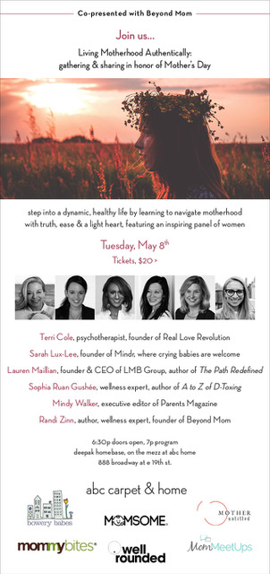 Living Motherhood Authentically Panel with Beyond Mom