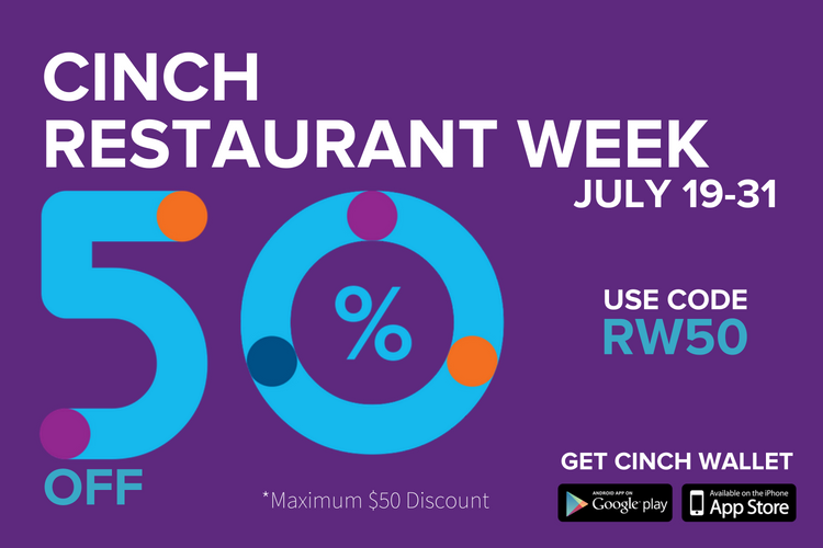 Cinch Wallet Launches Restaurant Week Promotion!