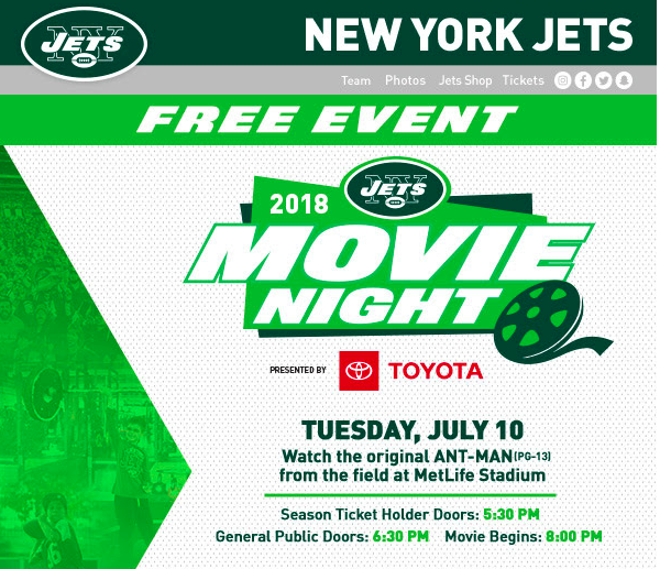 2018 Movie Night at Metlife Stadium