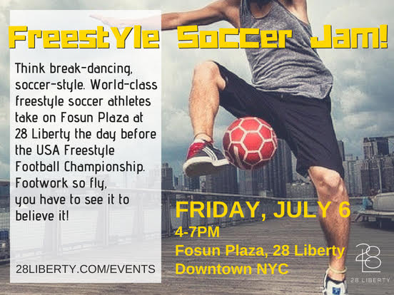 Freestyle Soccer Jam at 28 Liberty