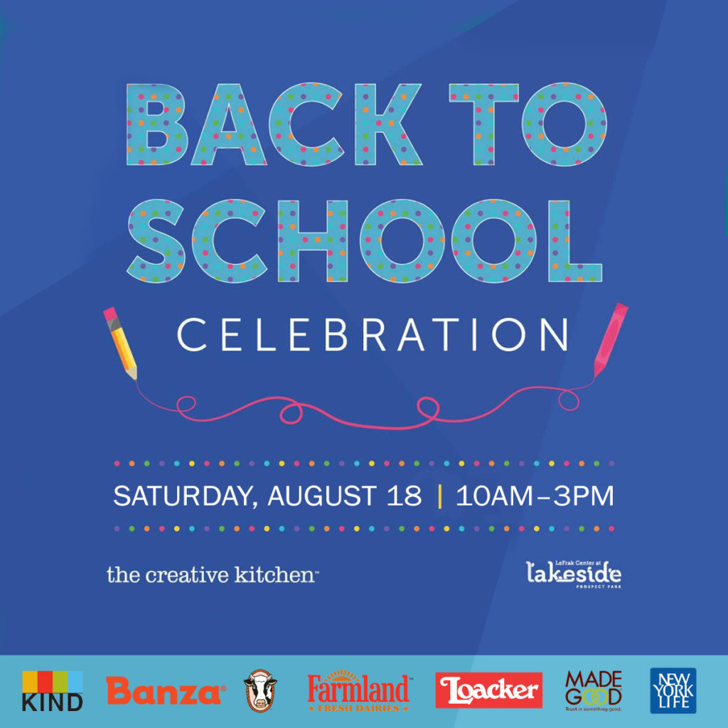 Back to School Celebration with The Creative Kitchen