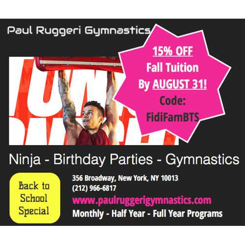 Last chance to SAVE on Paul Ruggeri Gymnastics Classes