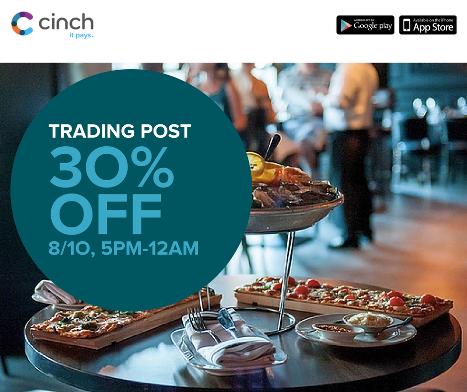 Trading Post Promotion Tonight with Cinch