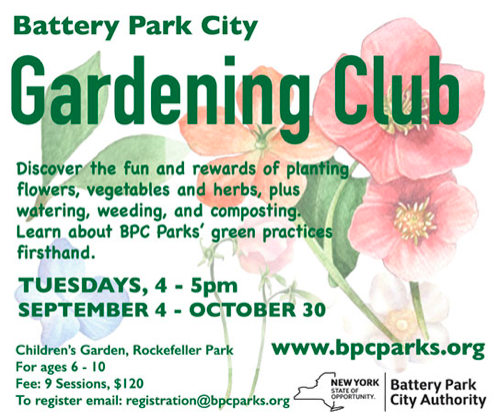 Gardening Club for Kids in Battery Park