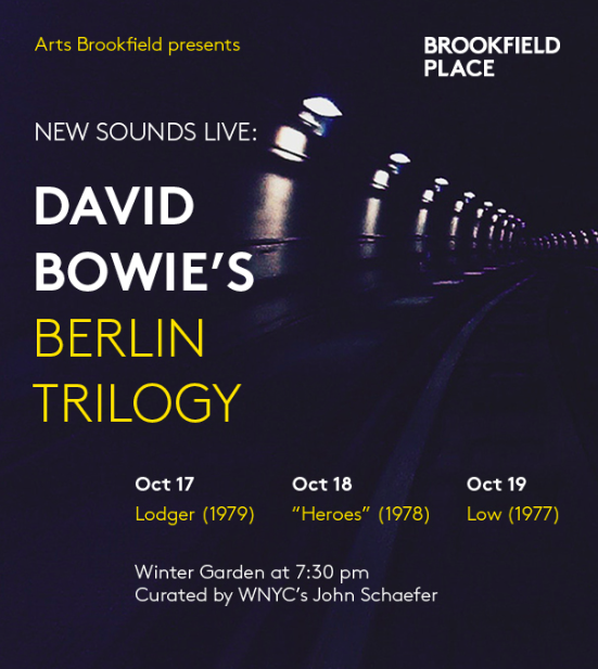 New Sounds Live: David Bowie Berlin Trilogy