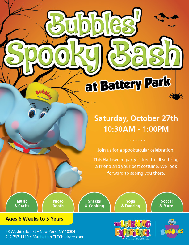 The Learning Experience Battery Park Bubbles Spooky Bash - 10/27!