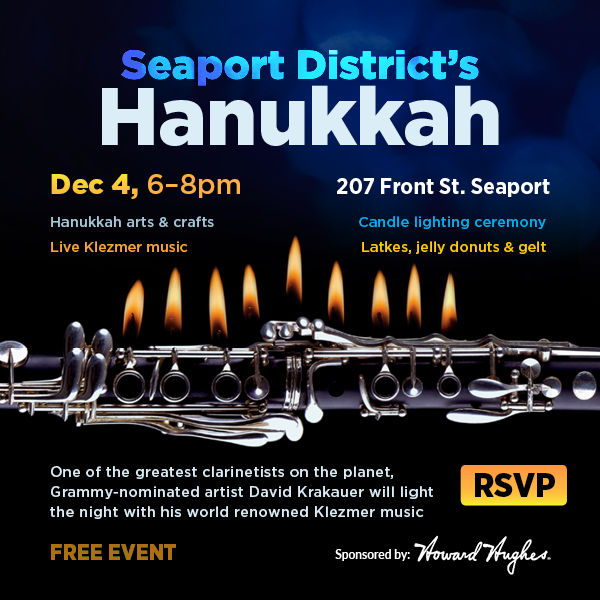 Seaport District's Hanukkah Celebration