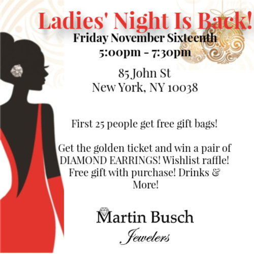Ladies Night in FiDi with Martin Busch Jewelers!