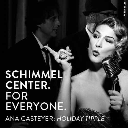 Celebrate the holidays with SNL's Ana Gasteyer with cabaret, cabernet and laughs at Schimmel Center!