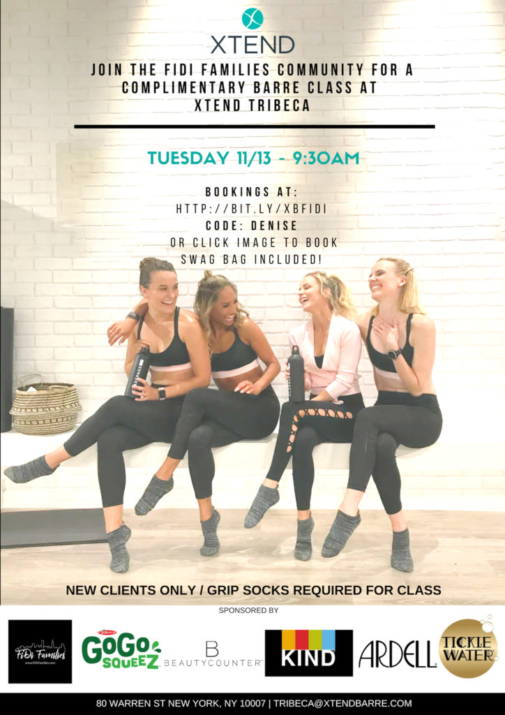 Xtend Barre Fitness Class (swag bag, too)