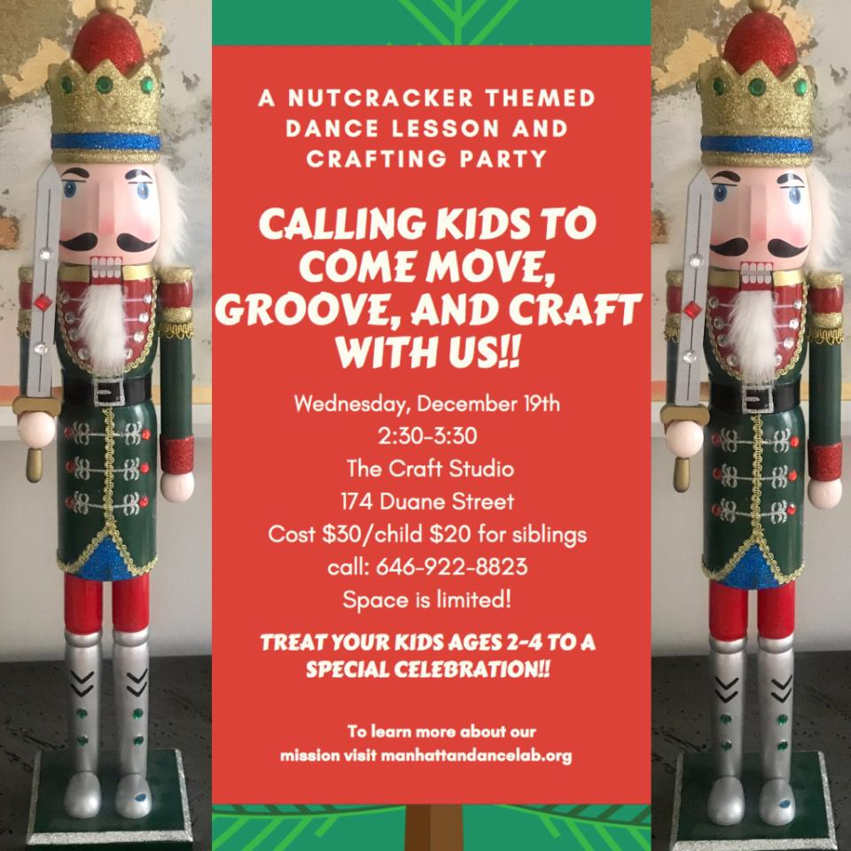 A Nutcracker Themed Dance and Craft at The Craft Studio