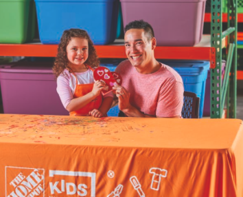 Home Depot DIY Kids Workshop - Valentine's Heart Box