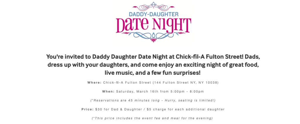 Daddy-Daughter Date Night