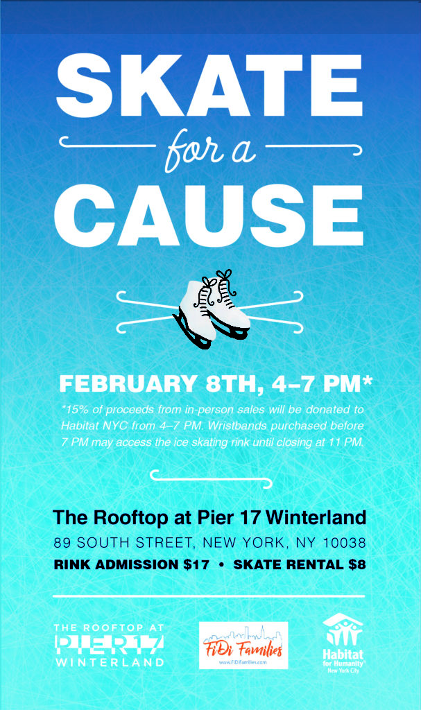 Skate For A Cause with Habitat for Humanity NYC and FiDi Families at Pier 17