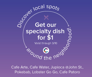 Discover new dining destinations for $1 with the Cinch Wallet App in FiDi!