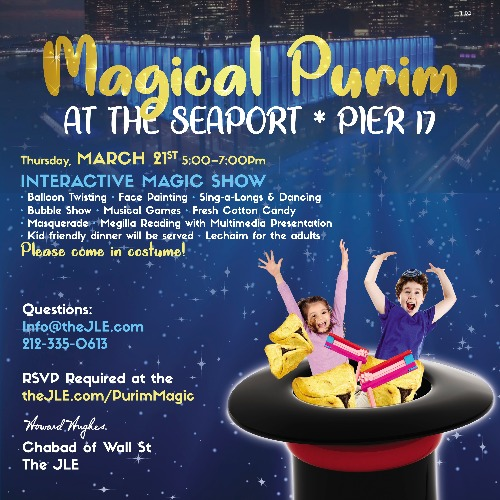 Magical Purim at the Seaport / Pier 17