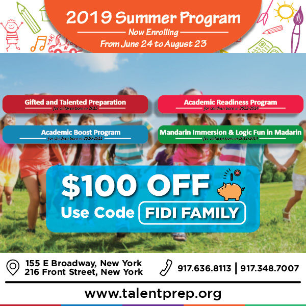 FiDi Families Promotion with Talent Prep Education Centers