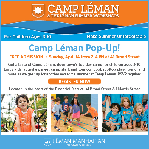 Join Us on April 14 for a Camp Léman Pop-Up