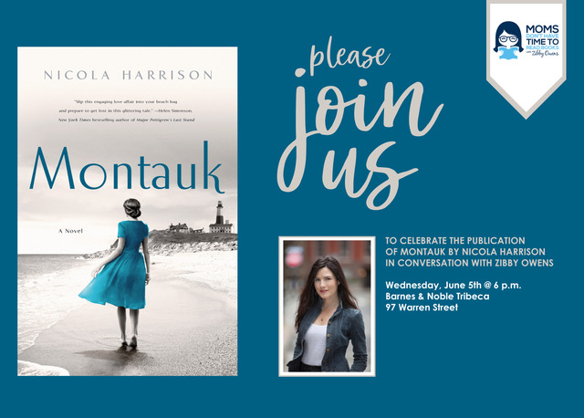 Montauk Author Talkback with Nicola Harrison and Zibby Owens at Barnes & Noble
