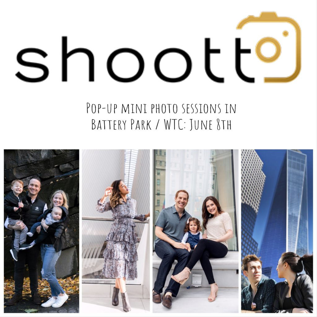 Pop-Up Mini Photo Sessions in Battery Park/WTC with Shoott Photos
