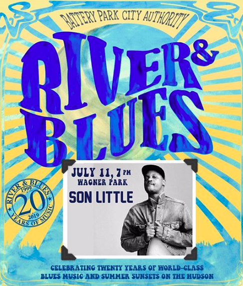 River & Blues Concert with Son Little at Wagner Park (FREE)