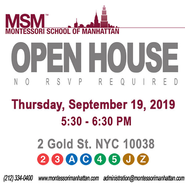 Open House at the Montessori School of Manhattan in FiDi