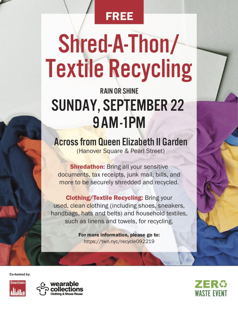 Shred-A-Thon / Textile Recycling Event (FREE)