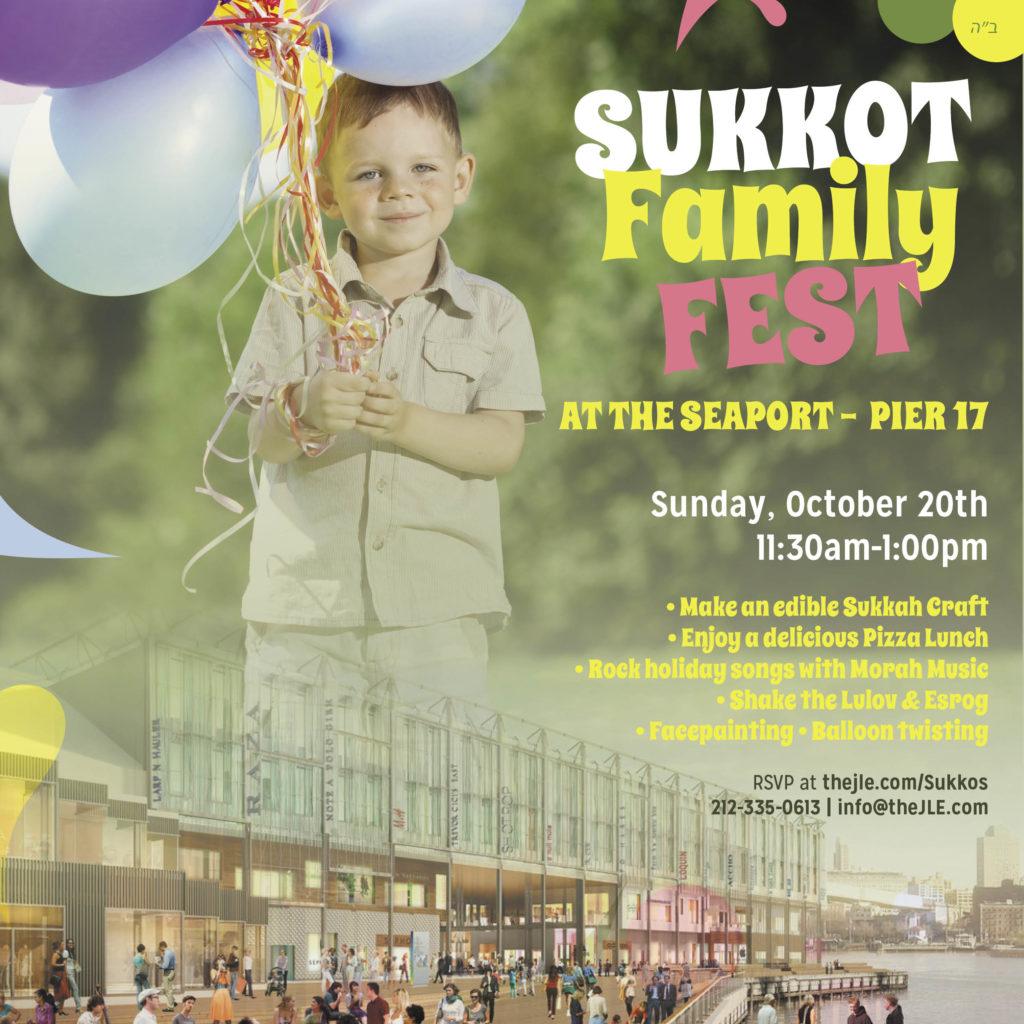 Sukkos Family Fest at Pier 17 this Sunday! Facepaint. Balloons. Pizza. Music.