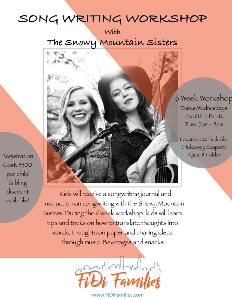 Songwriting Workshop Series with the Snowy Mountain Sisters