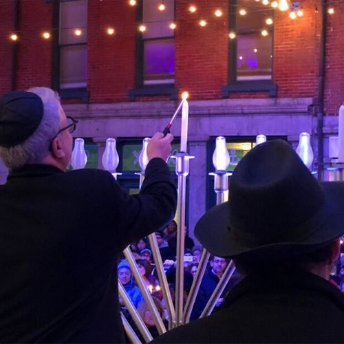 Chanukah on Ice at Pier 17 Winterland