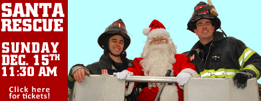 Santa Rescue at the FDNY Museum in SoHo