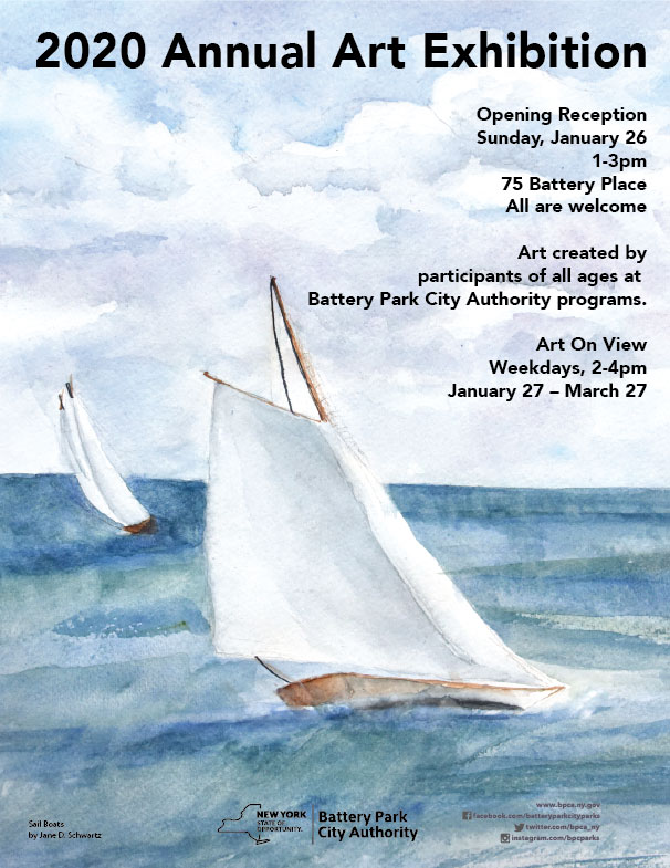 2020 Annual Art Exhibition Hosted by the Battery Park City Authority (Save the Date)