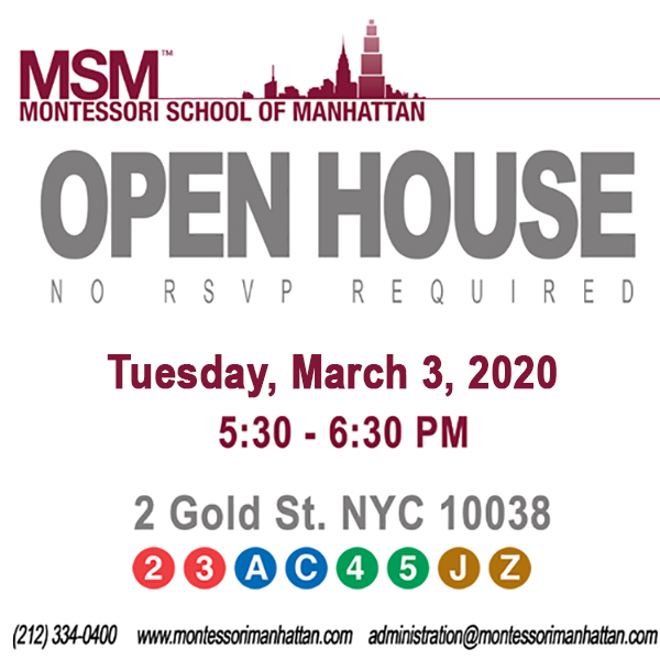 Montessori School of Manhattan Open House