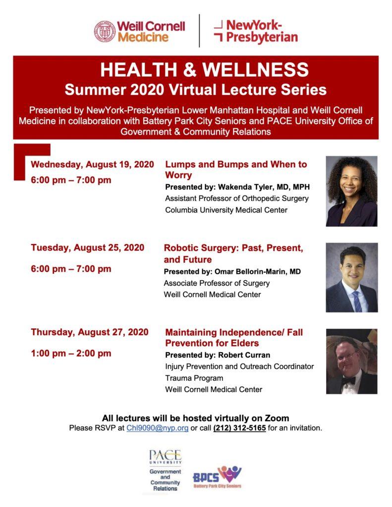 Health and Wellness Seminars Presented by Weill Cornell Medicine and NY Presbyterian