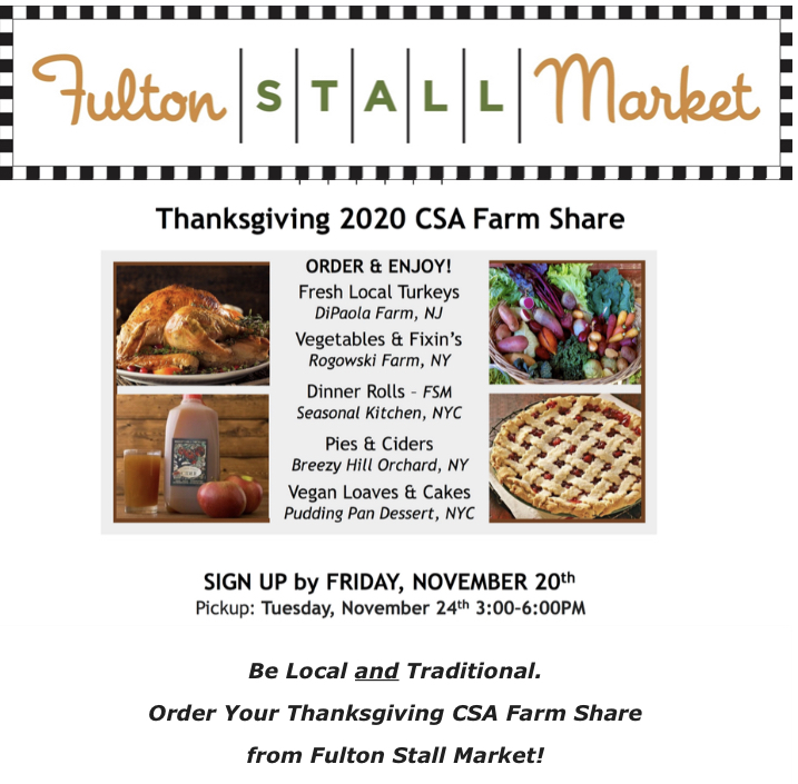 Fulton Stall Market - Thanksgiving Feast Available to Order!