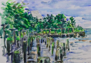 Drawing in the Park - Outdoors Adventures in Battery Park