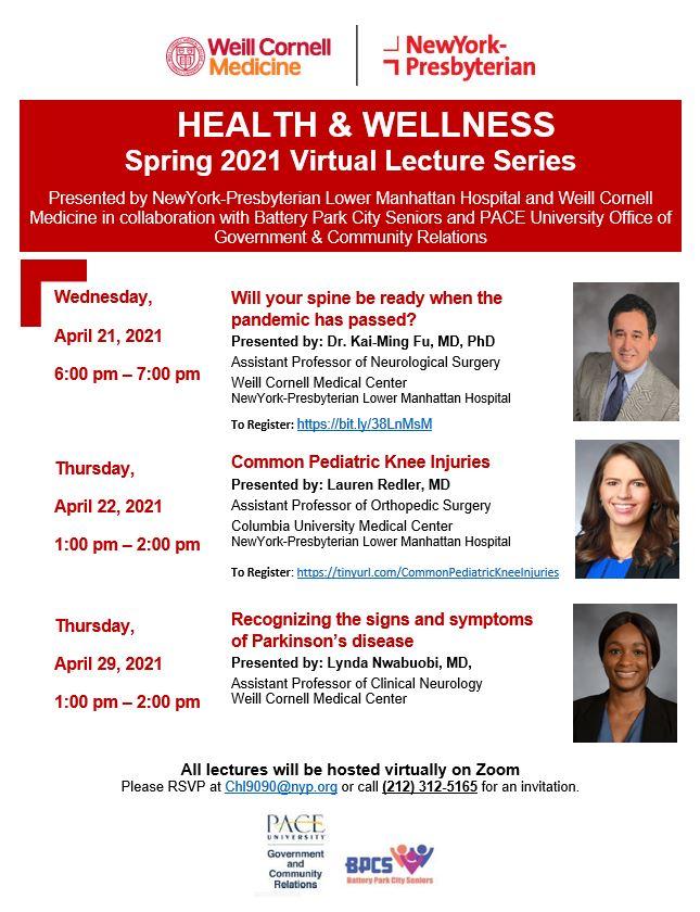 NewYork Presbyterian Lower Manhattan Hospital and Weill Cornell Medicine Host Free Community Workshops