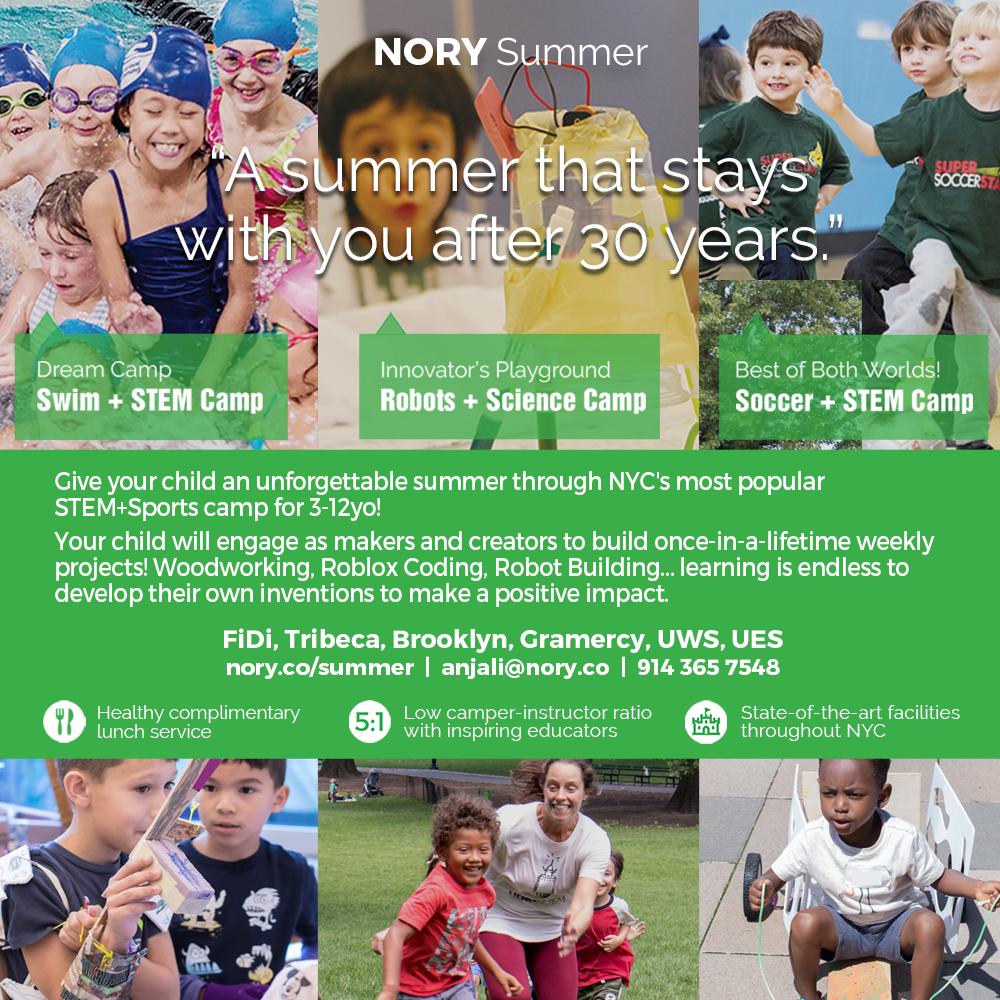 STEM+Swim+Soccer Summer Camp: FiDi, Tribeca, and More!