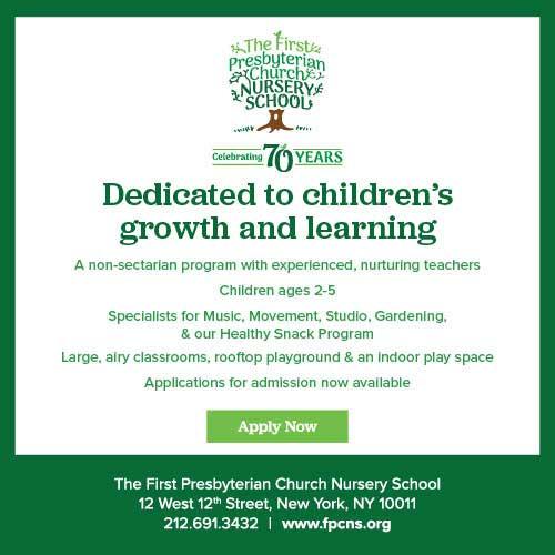 You're invited! Apply Today to The First Presbyterian Church Nursery School